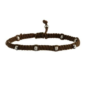 Náramek Macrame men gold, light brown