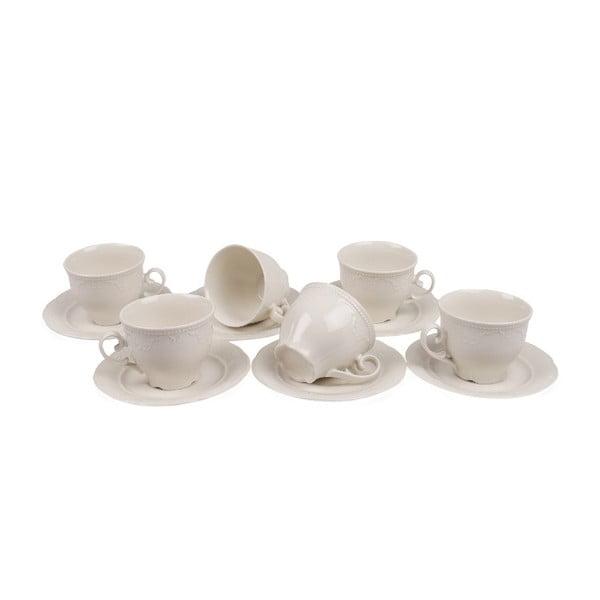 Elegance 6 db-os porcelán csésze és csészealj szett, 150 ml - Kutahya
