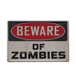 Cedule Beware of Zombies, 20x30 cm