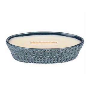 Svíčka s vůní vanilky v keramickém svícnu WoodWick, dobahoření60hodin