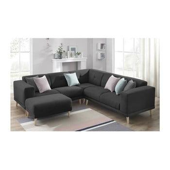 Canapea cu suport pentru picioare Bobochic Luna negru