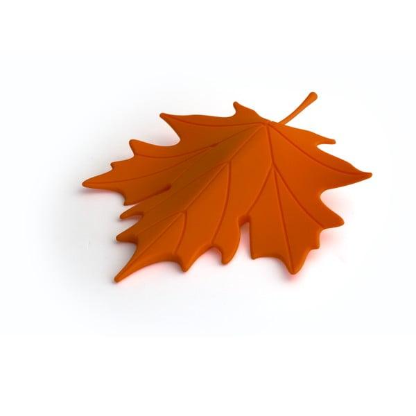 Opritor ușă în formă de frunzăQualy&CO Autumn, portocaliu