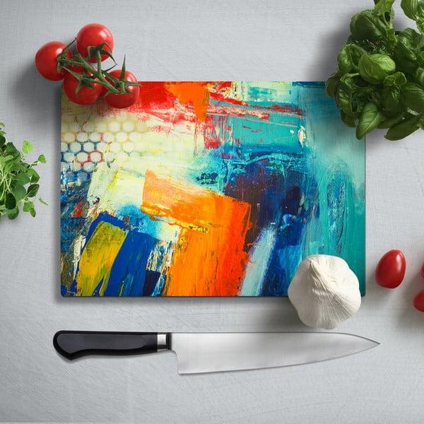 Farebná doska na krájanie z tvrdeného skla Insigne Friga, 35 × 25 cm