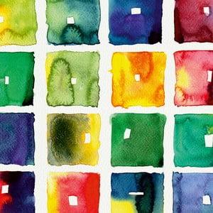 Tablou Retro colorat, 60 x 60 cm