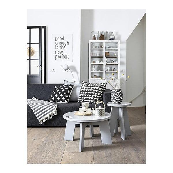 Světle šedý konferenční stolek z borovicového dřeva De Eekhoorn Grip
