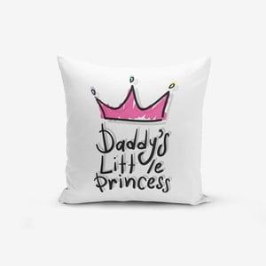 Povlak na polštář s příměsí bavlny Minimalist Cushion Covers Pink Crown, 45 x 45 cm