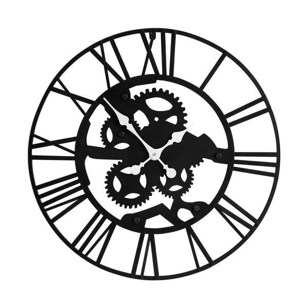 Nástěnné železné hodiny Black Iron