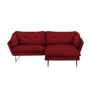 Set canapea cu taburet Windsor & Co Sofas Comet, roşu