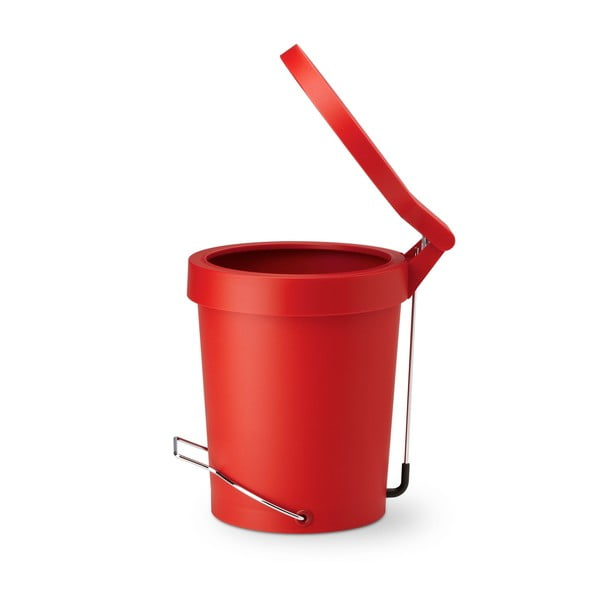 Pedálový koš Tip, 7 l, červený