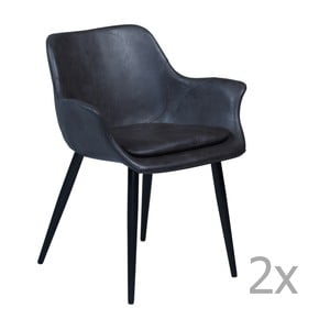 Set 2 scaune cu cotiere DAN-FORM Combinp, gri