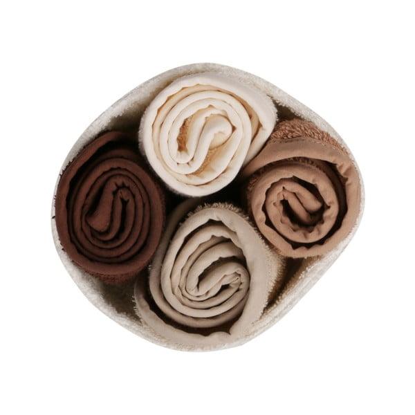 Sada 4 ručníků na ruce v látkovém košíčku Polo Club Evelyn