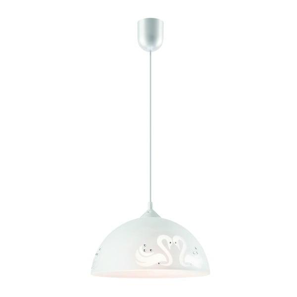 Biała lampa wisząca Lamkur Swan