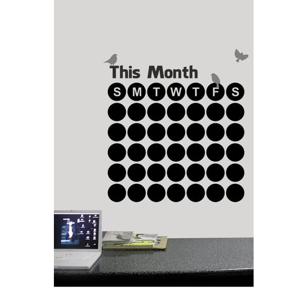 Tablă autocolantă de perete This Months