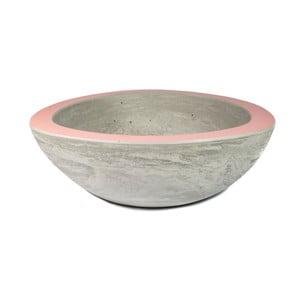 Střední betonová mísa, růžová