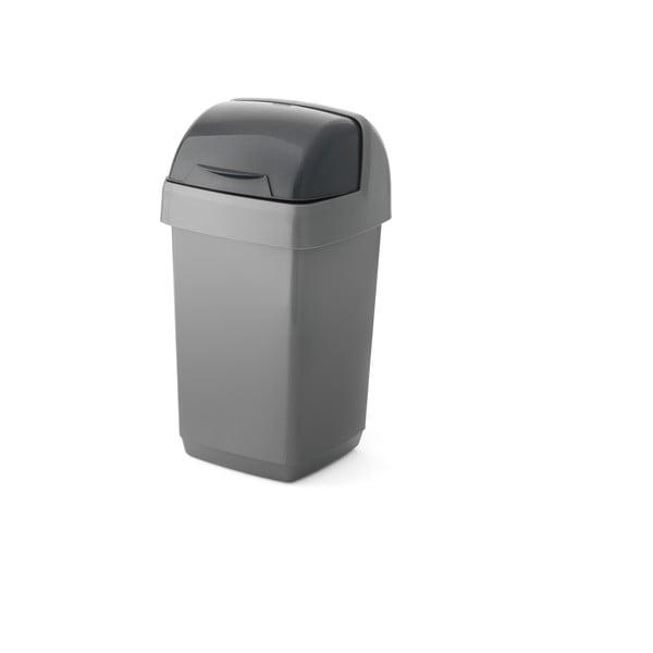 Sivý odpadkový kôš Addis Roll Top, 22,5 x 23 x 42,5 cm