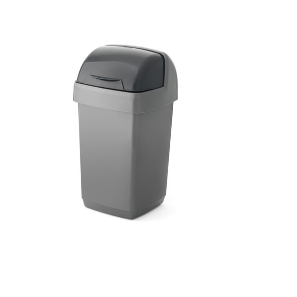 Coș de gunoi Addis Roll Top, 22,5 x 23 x 42,5 cm, gri