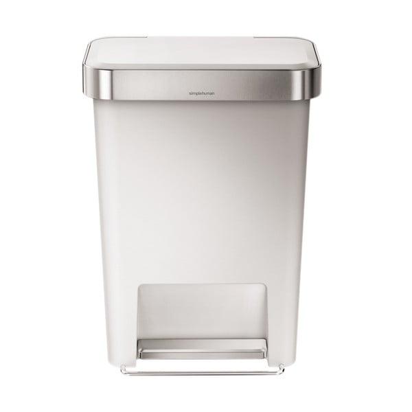 Pedálový koš na odpadky Pocket, 45 l bílý