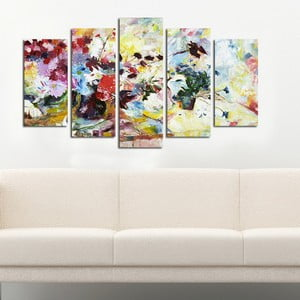 Pětidílný obraz Louka, 110x60 cm