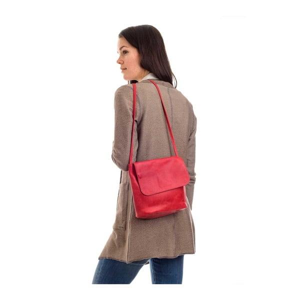 Červená kožená kabelka přes rameno Woox Costa
