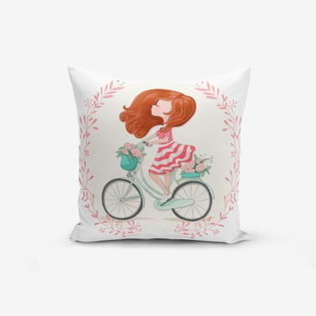 Față de pernă Minimalist Cushion Covers Bike Girl, 45 x 45 cm de la Minimalist Cushion Covers