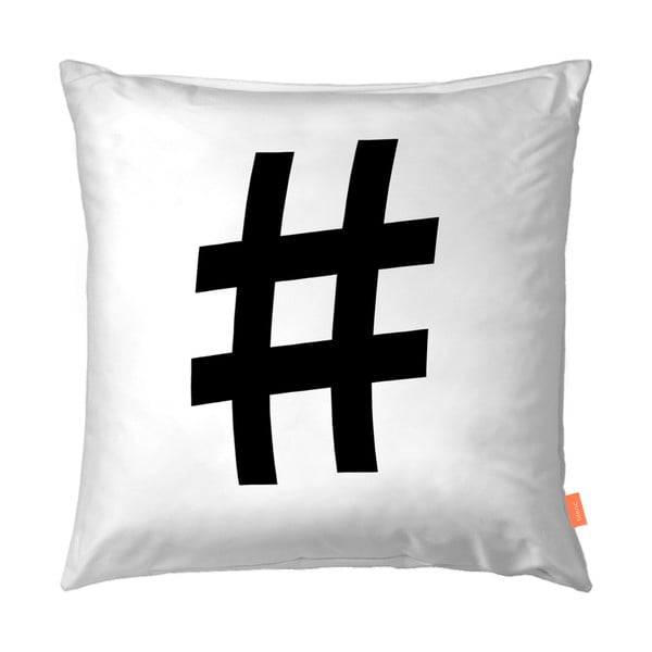 Sada 2 bavlněných povlaků na polštář Blanc Hashtag