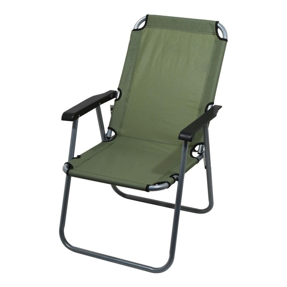 Tmavě zelená skládací kempingová židle Cattara Lyon