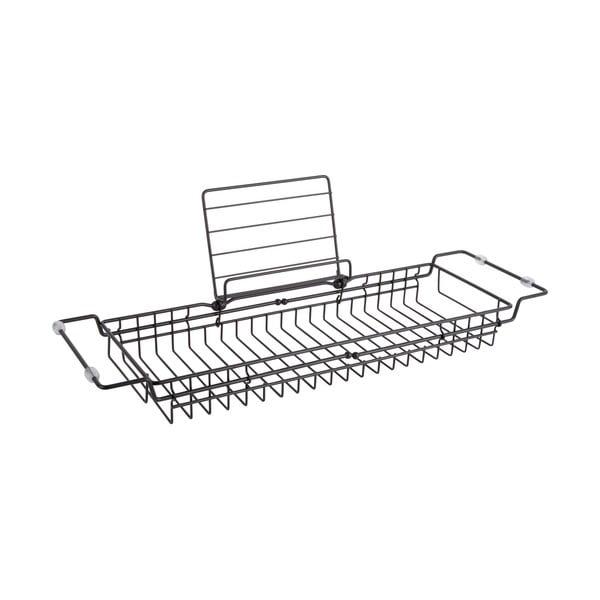 Czarna metalowa regulowana półka na wannę PT LIVING Tub, 61 - 86 cm