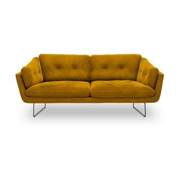 Canapea cu 3 locuri Windsor & Co Sofas Gravity, galben de la Windsor & Co Sofas