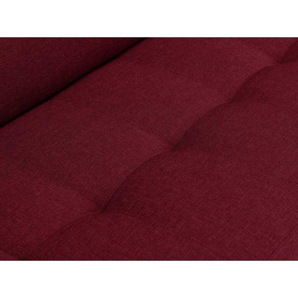 Červená rohová rozkládací pohovka s nohami v černé barvě Cosmopolitan Design Orlando, pravý roh