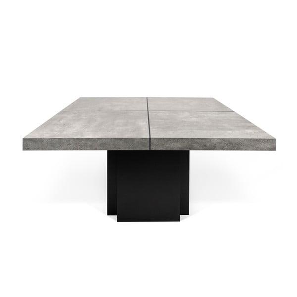 Jídelní stůl s dekorem betonu TemaHome Dusk, 130cm