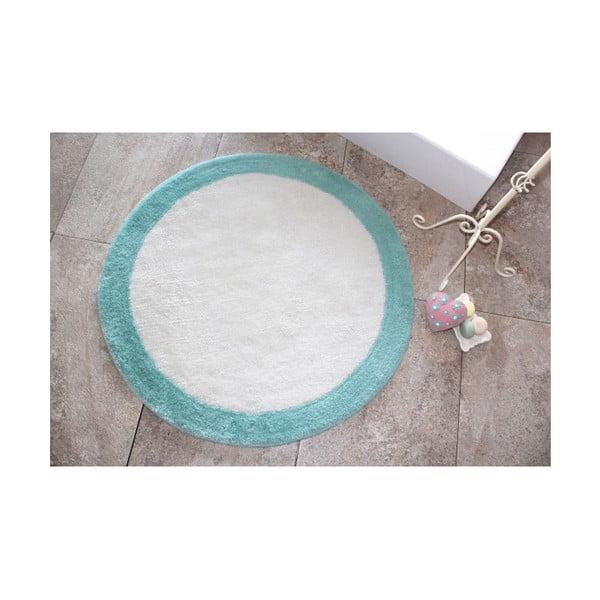 Koupelnová předložka Alessia Ronda Mint, Ø 90 cm
