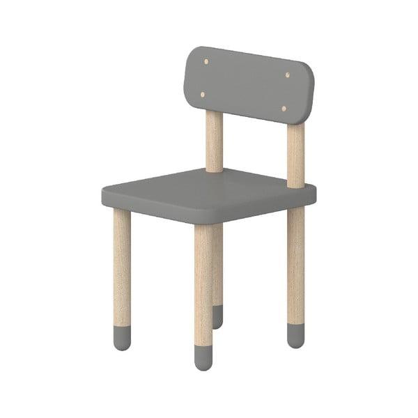 Šedá dětská židle Flexa Dots