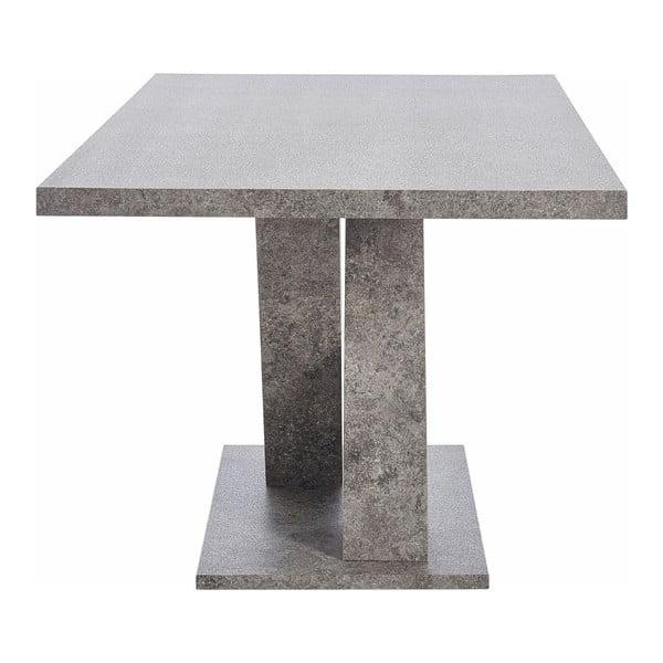 Jídelní stůl v dekoru betonu Støraa Anton, 90x160cm