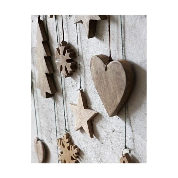 Dřevěné srdce, velké, 3 ks