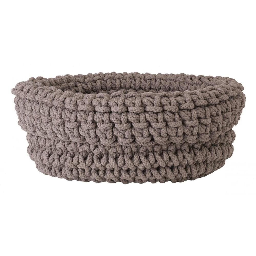 Béžový pletený bavlněný košík Blomus, ø38cm