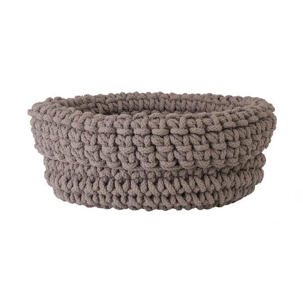 Béžový pletený bavlnený košík Blomus, ø 38 cm