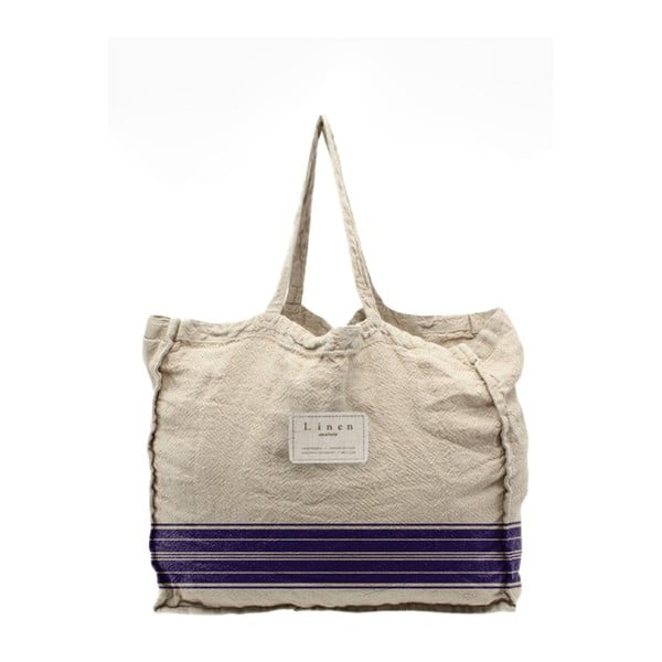Látková taška Linen Couture Blue Stripes, šírka 50 cm