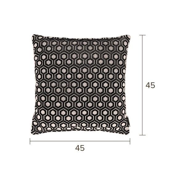 Světle šedý polštář Dutchbone Dean, 45x45cm
