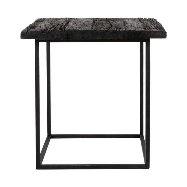 Odkládací stolek s deskou z exotického dřeva Canett Hayes Will, délka 50 cm