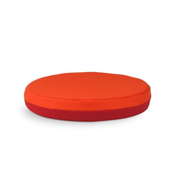 Obsoutranný sedací polštář Otto, červený/oranžový