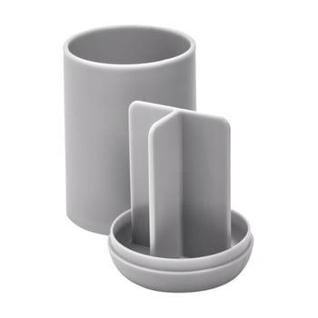 Suport cu compartimente pentru periuțele de dinți iDesign Cade, gri