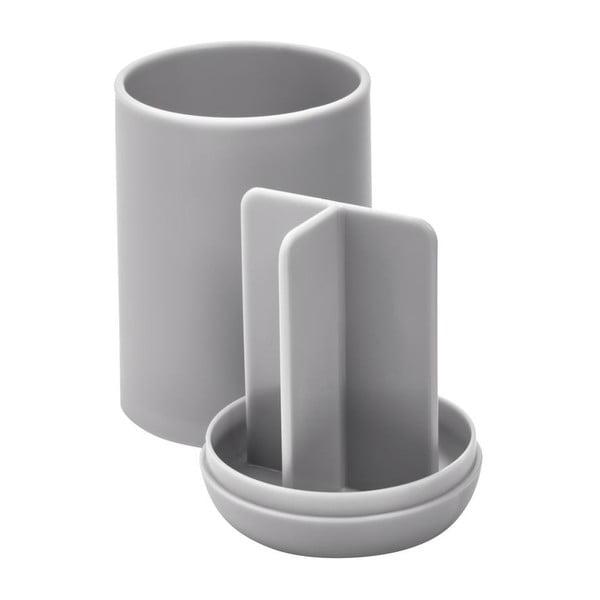 Cade szürke fogkefetartó pohár rekeszekkel - iDesign