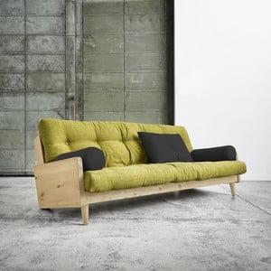 Canapea extensibilă Karup Indie Natural/Avocado Green/Dark Grey