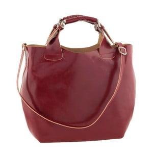Červená kožená kabelka Ore Diece Messina