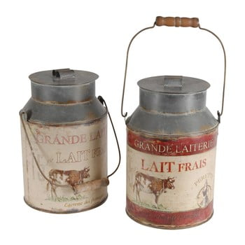Set 2 recipiente decorative Milk Jar Antic Line imagine
