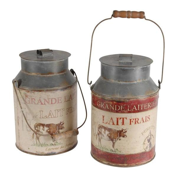Sada 2 dekoratívnych džbánov na mlieko Antic Line Milk Jar