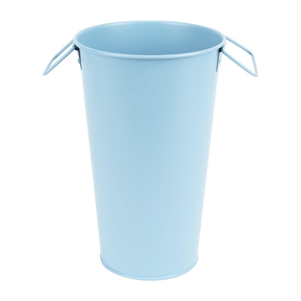Světle modrá kovová zahradní váza Esschert Design Gardener