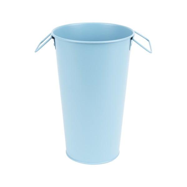 Svetlomodrá kovová záhradná váza Esschert Design Gardener