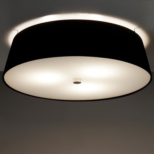 Černé stropní svítidlo Bulb Attack Dos Plisado,⌀45cm