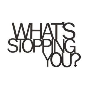 Kovová nástěnná dekorace What´s Stopping You
